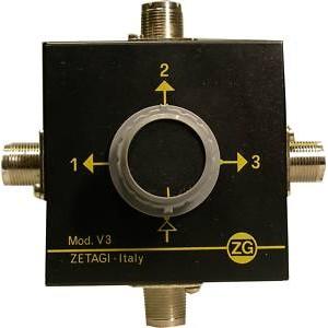 ZETAGI V3 Conmutador de antena de tres posiciones