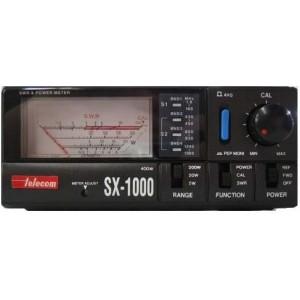 TELECOM SX-1000 medidor R.O.E. y vatimetro para HF, VHF y UHF