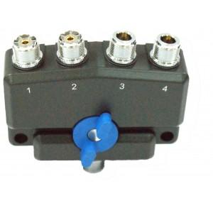 D-Original AV-SW4MIX conmutador 4 posiciones conectores 2 PL y 2 N