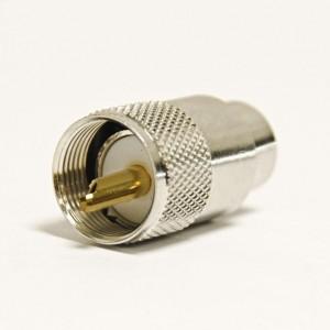 Conector PL 259 (pin dorado)  para RG-213 / RG-11 / RG-8 / RF-400