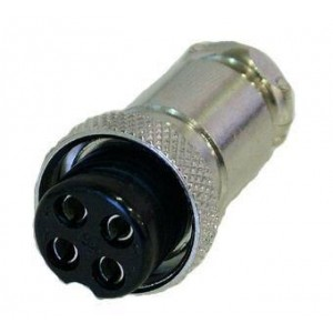 Conector hembra de 4 pins para micrófono
