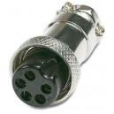 Conector hembra de 5 pins para micrófono