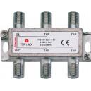 Triax SCT 4-24 derivador de 4 salidas con atenuacion de 24dBs para redes de FM, TDT y FI