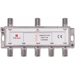 Triax SCT 6-20 derivador de 6 salidas con atenuacion de 20dBs