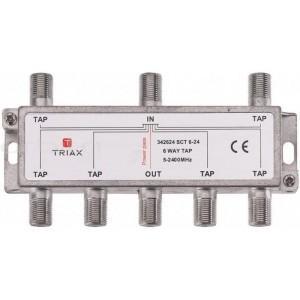 Triax SCT 6-24 derivador de 6 salidas con atenuacion de 24dBs