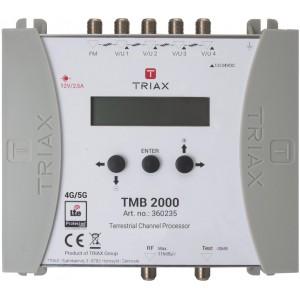 Triax TMB2000 Central Programable de 4 entradas más FM, 1 salidas 55dB con 32 filtros LTE