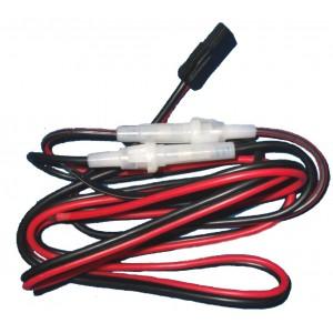 CB3AXX Cable 2mm con 2 fusibles para alimentación Emisora CB 27MHz