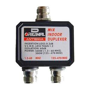 Duplexor 1.3-60MHz / 125-470 MHz conectores tipo N