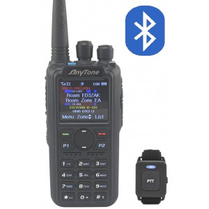 Anytone AT-D878UV PLUS Walkie digital DMR (roaming, Bluetooth) y analógico FM/APRS 144/430MHz